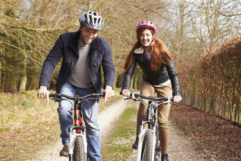 Jazda na rowerze to ćwiczenie siłowe.