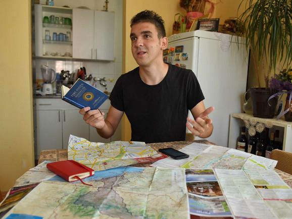 Prevezao 3.000 kilometara na polovnom biciklu: Ljubiša Šljivić