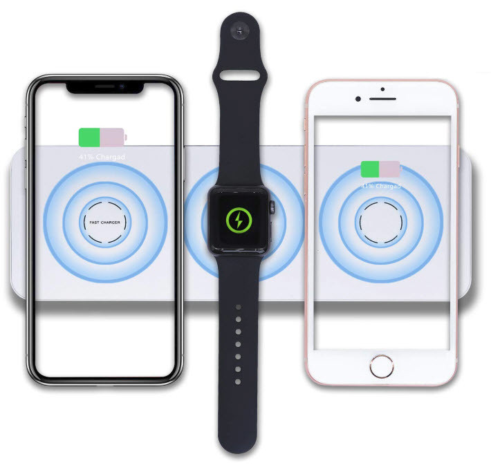 Liusi 3 in 1 Qi Wireless Charger