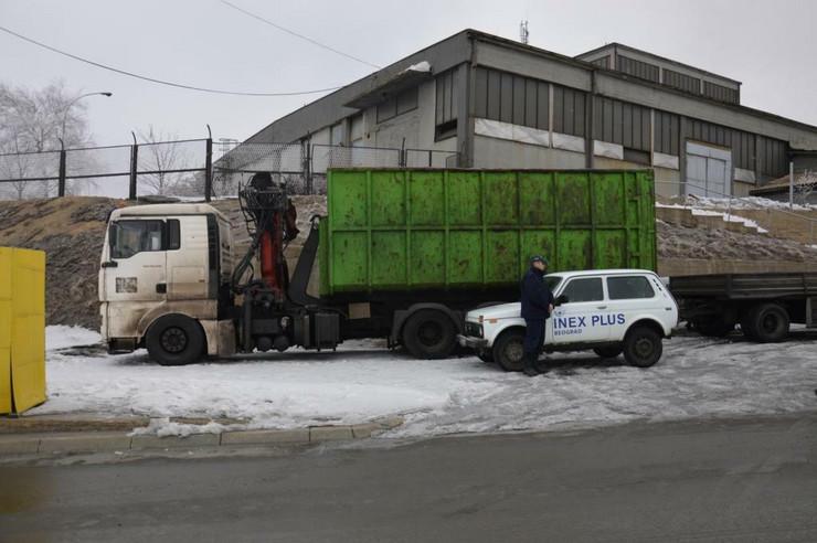 Bo01 Sporni kamion za koji se sumnja da je vrsio zloupotrebe u RTB Bor foto D.Kecic
