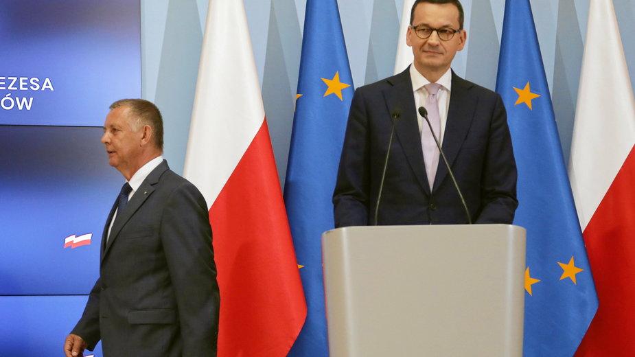 Marian Banaś i Mateusz Morawiecki