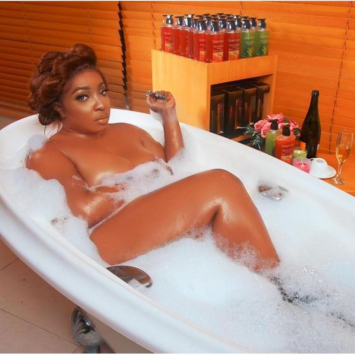 This photo of Anita Joseph in a bathtub is the hottest you would see today [LindaIkeji]