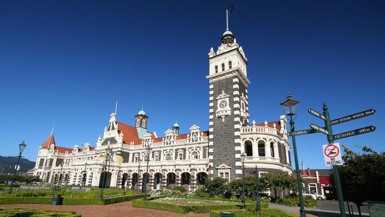 Dworzec w Dunedin. Nowa Zelandia