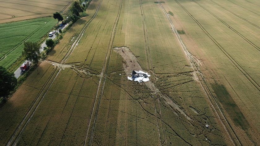 Katastrofa koło Pasłęka. Rozbił się wojskowy myśliwiec. Zginął pilot