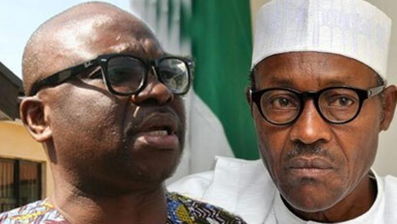 Governor of Ekiti State, Ayo Fayose and President Muhammadu Buhari