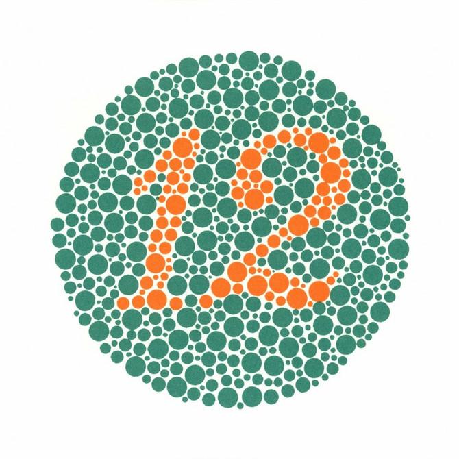 Tablice po Ishihari, najčešći test za poremećaj boja