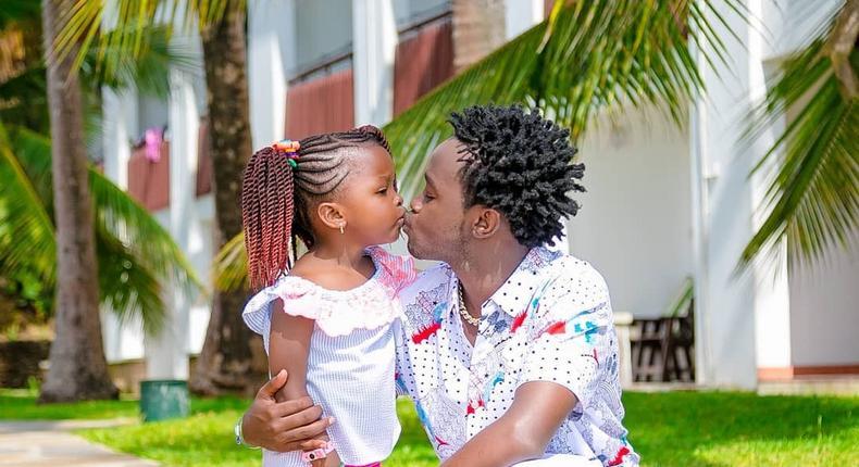 Bahati with daughter Mueni