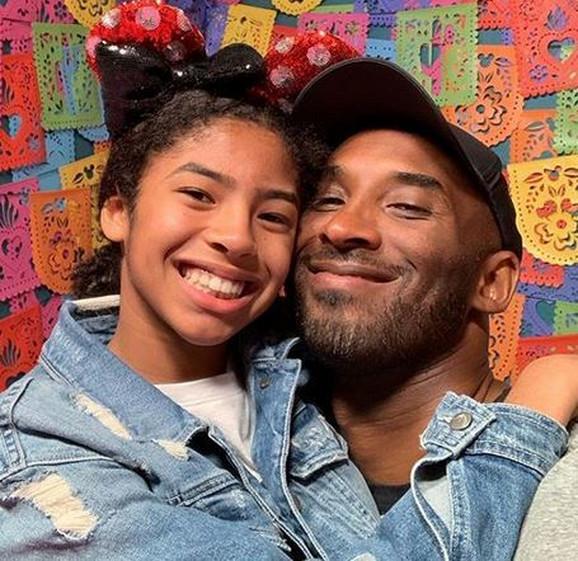 Kobi Brajant sa ćerkom Đanom