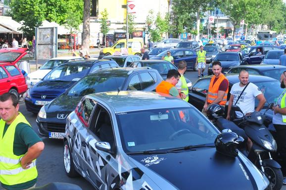 Blokada puta u Novom Sadu
