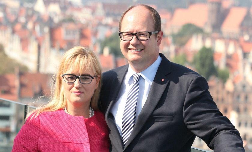 Paweł Adamowicz z żoną Magdaleną