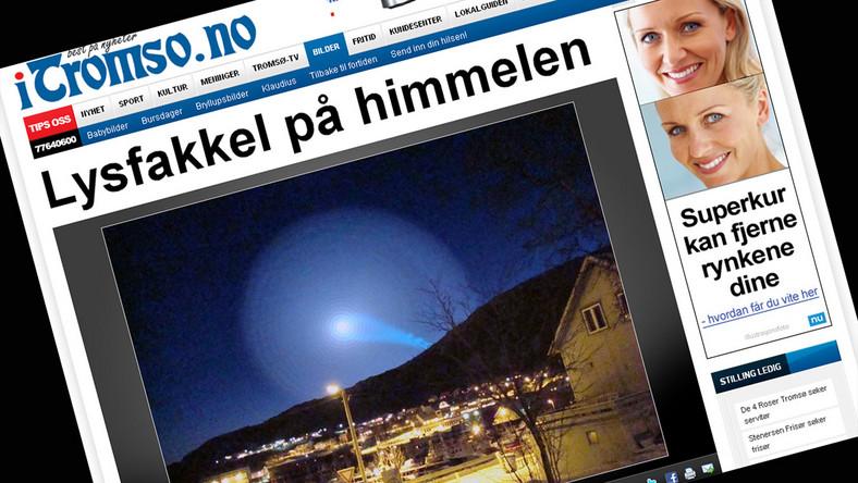 Zobacz świecącą spiralę nad Norwegią