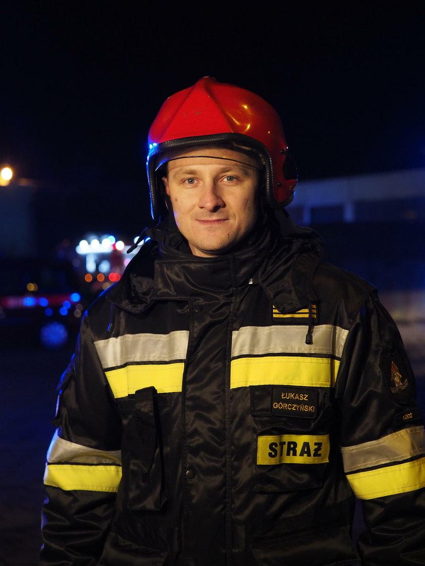 Łukasz Górczyński, oficer prasowy straży pożarnej w Łodzi
