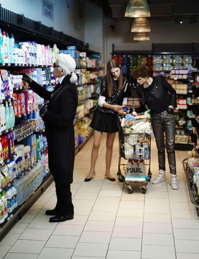 Wielki projektant w supermarkecie! Przyszedł po waciki