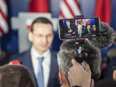 Mateusz Morawiecki, wicepremier, minister rozwoju i finansów, brał udział w polsko-amerykańskich rozmowach podczas wizyty Donalda Trumpa w Polsce