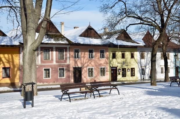 Spiska Sobota - Zima na rynku Spiskiej Soboty