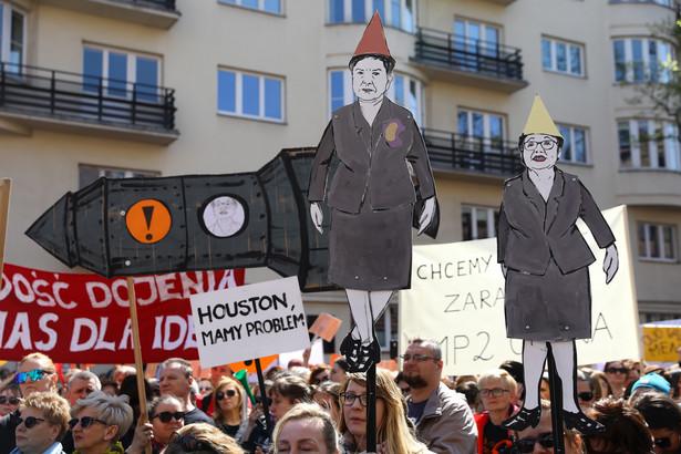 strajk nauczycieli, fot. Rafał Guz