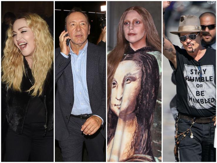 Madona, Lejdi Gaga, Džoni Dep, Kevin Spejsi