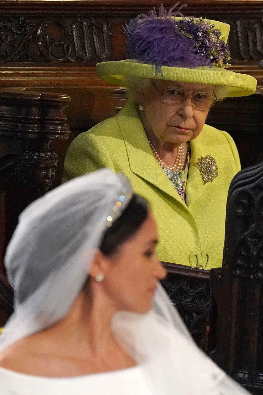 Królowa Elżbieta II i Meghan