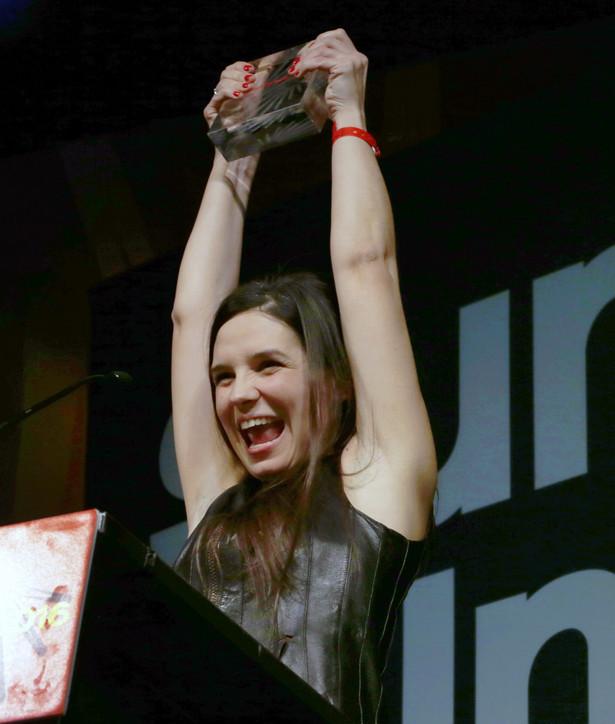 Agnieszka Smoczyńska odbiera nagrodę na festiwalu w amerykańskim Sundance.