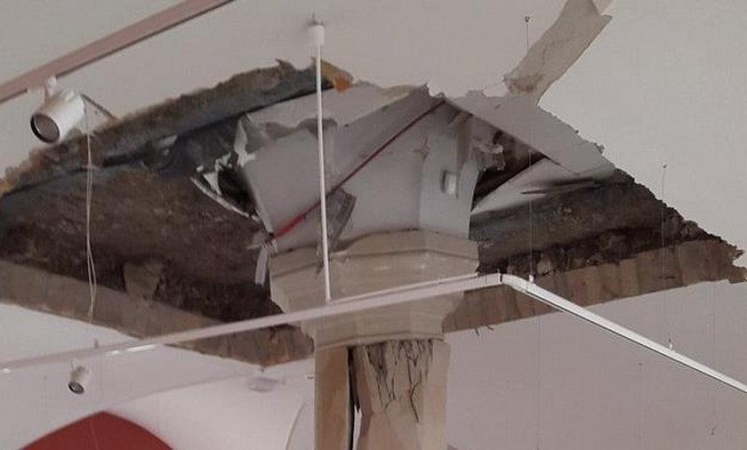 Zawalił się strop w zamku w Szczecinie