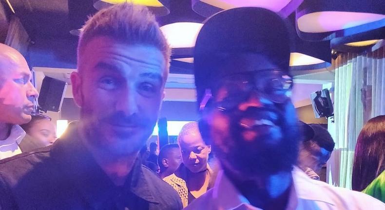 Blinky Bill with David Beckham