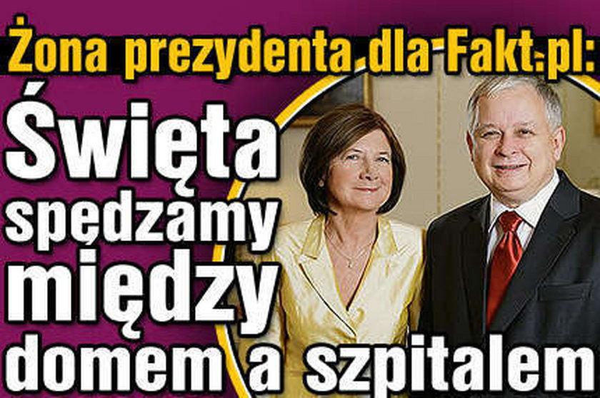 Kaczyński. Święta między szpitalem a domem