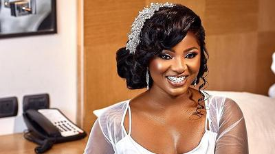 All the times Ahuofe Patri dazzled us in impeccable wedding gowns