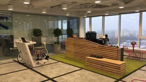 Recepcja w biurze Media Com w Warszawie