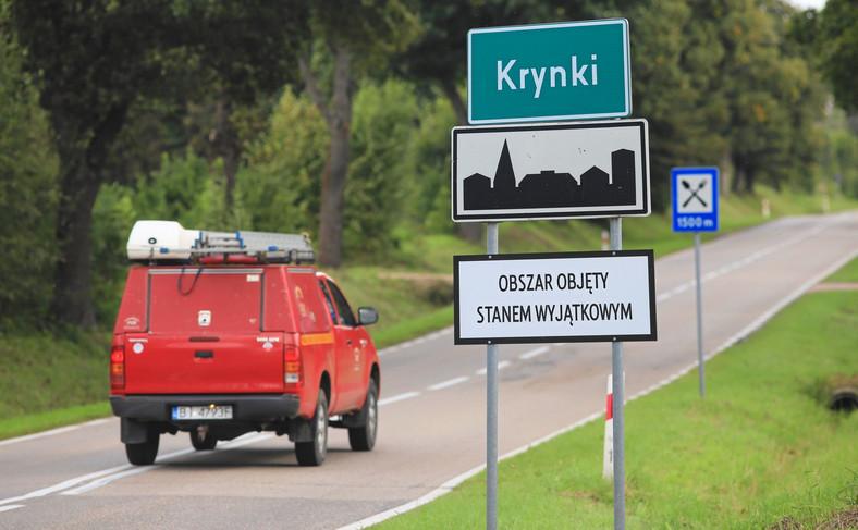 Obszar objęty stanem wyjątkowym na Podlasiu