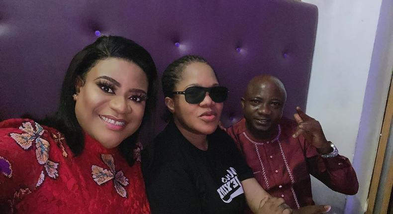 Nkechi Blessing Sunday, Toyin Abraham and Sanyeri will feature in upcoming comedy, 'Fate of Alakada: The Party Planner'. [Instagram/NkechiBlessingSunday]