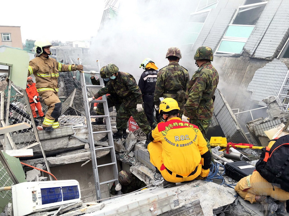 TAIWAN EARTHQUAKE (At least 3 dead, 45 injured after 6.4 magnitude earthquake hit south Taiwan)