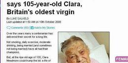 Tak wygląda 105. letnia dziewica