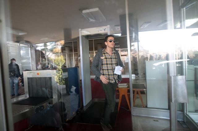 Marko Mišković po izlasku iz Uprave kriminalističke policije nakon prvog saslušanja