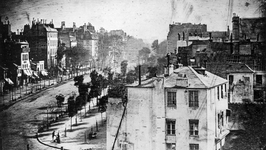 Louis Daguerre, Boulevard du Temple w Paryżu (1838), domena publiczna