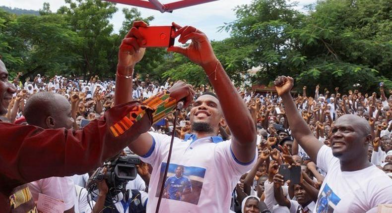 Samuel Eto'o in Ghana and Sierra Leone
