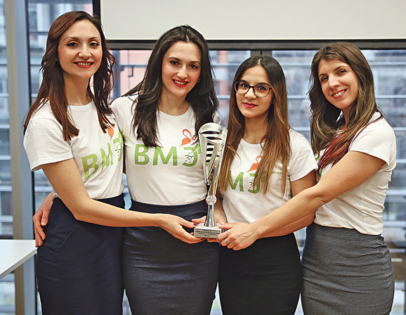Tim BMC: Vesna Radovanović, Nevena Veličković, Valentina Radovanović i Jelena Konstantinović
