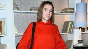 Piękna Olga Bołądź w stylowym sweterku. Czuć już Boże Narodzenie