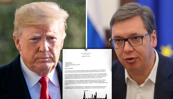 Tramp pisao VučićU i Tačiju