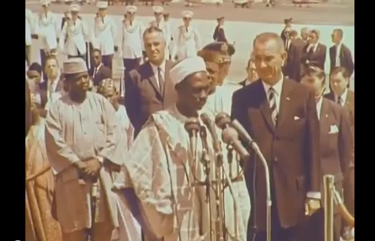 Abubakar Tafawa Balewa giving his Independence day speech 1960 (Credit - africanspotlightcom)