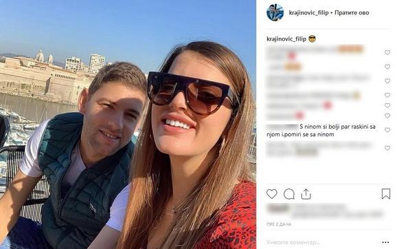 Filip Krajinović i Anđela Novčić