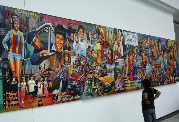 Umetnošću protiv diktature: Iz jedne od galerija u Bangkoku