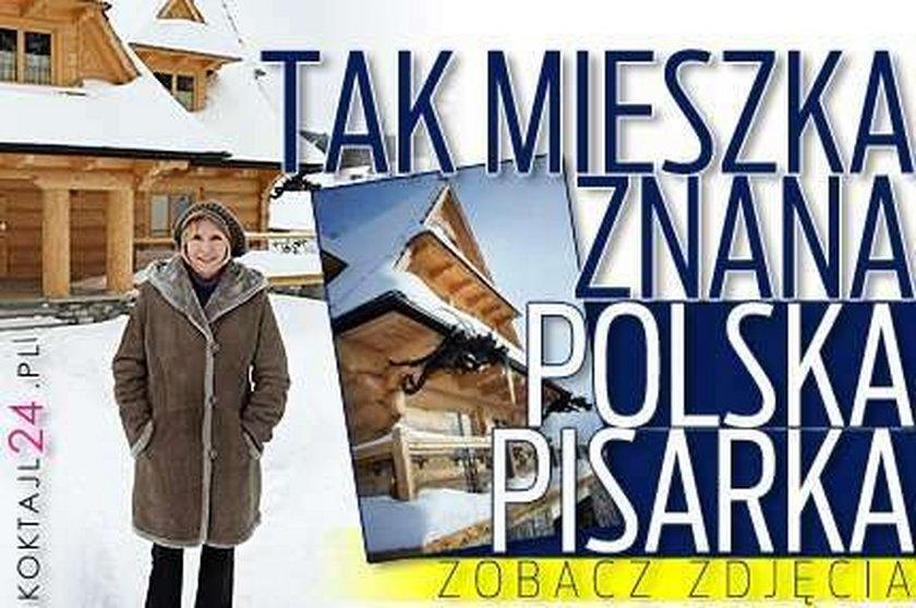 Tak mieszka znana polska pisarka FOTO