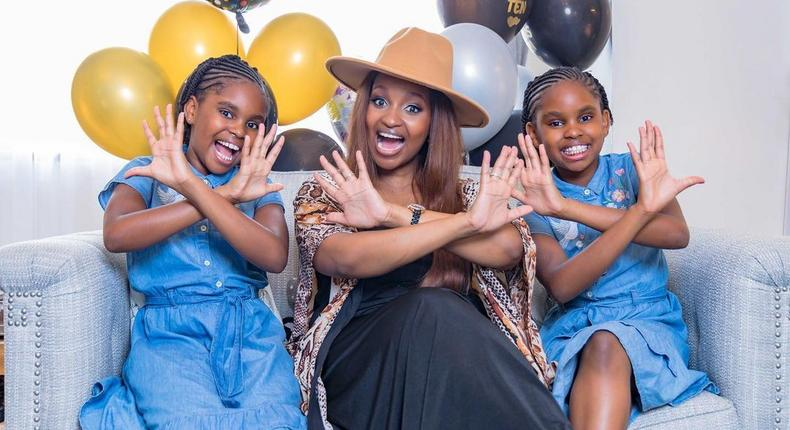 NTV's Grace Msalame gushes over her Twin daughters as they turns 10 (Photos)