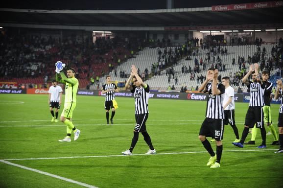 Fudbaleri Partizana nakon poslednjeg odigranog