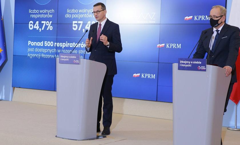 Mateusz Morawiecki i Adam Niedzielski.