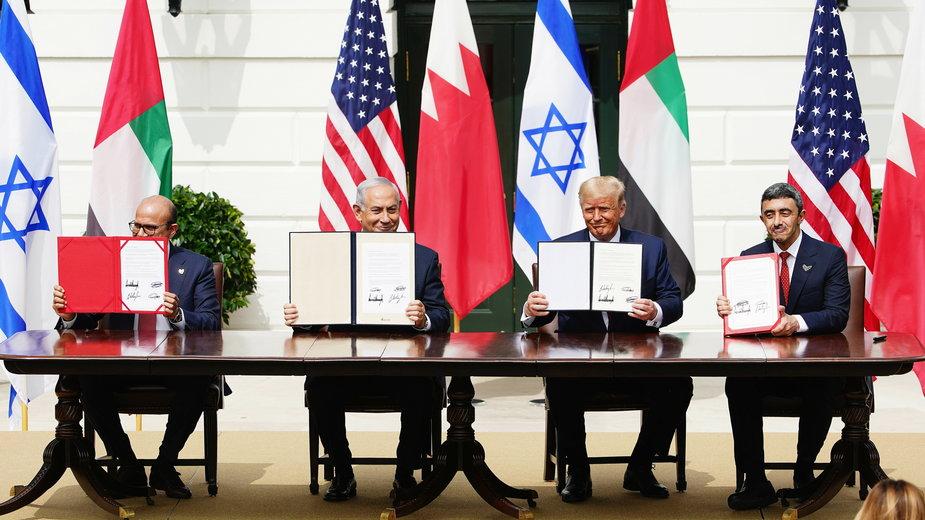 Podpisanie porozumień pokojowych między Izraelem a Bahrajnem i ZEA