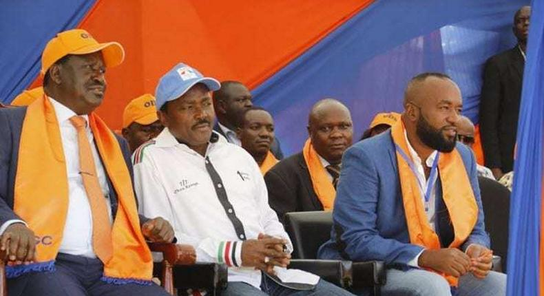File image of (L-R) Raila Odinga, Kalonzao Musyoka and Hassan Joho