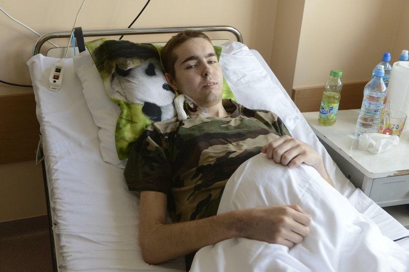 Konrad Krzemiński (20 l.) ostatni rok spędził w szpitalu