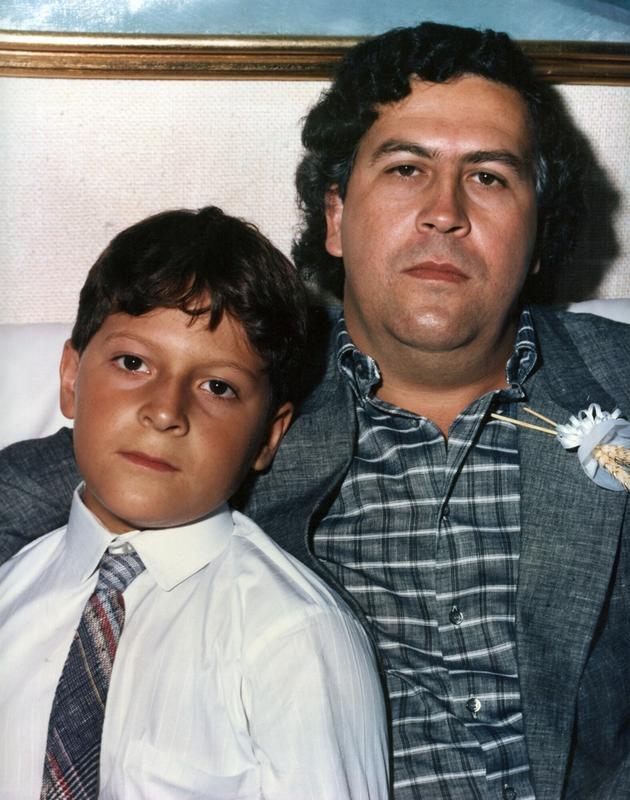 Młody Juan Pablo z ojcem