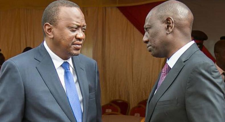 File image of President Uhuru Kenyatta with DP William Ruto